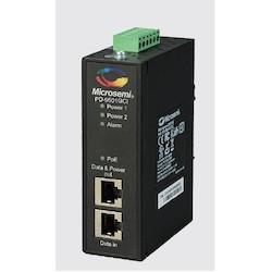 Industrial 1-port, 60W BT, PoE Midspan, Dual DC Input