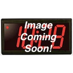 (2) 6 digit clocks, black powder-coated aluminum cases with (1) ONT6KIT-W, red LED