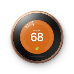 GOOGLE NEST LEARNING          THERMOSTAT, 3RD GEN - COPPER