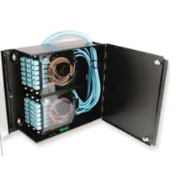 Wall-Mountable Connector Housing (WCH) Holds 6 CCH Connector Panels