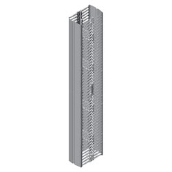 """Velocity Double-Sided Vertical Cable Managers; for 8' H (2.4 m) 51/52U Racks; 91"""" H (2311 mm) x 10"""" W (254 mm) x 17.5"""" (445 mm); Black"""