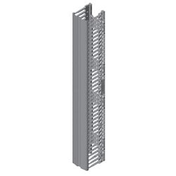 """Velocity Single-Sided Vertical Cable Managers; for 8' H (2.4 m) 51/52U Racks; 91"""" H (2311 mm) x 10"""" W (254 mm) x 10.3"""" (262 mm); Black"""