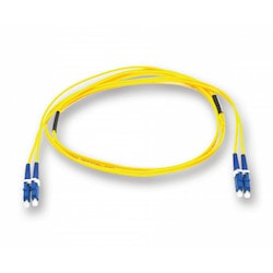 Plug & Play Universal Systems Jumper, Standard LCUPC Duplex SM / Standard LCUPC Duplex SM, SMF, 2F, Zipcord Riser, Standard Yellow Jacket 3 Meters