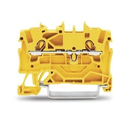 2 CONDUCTOR TERMINAL BLOCK    22-14 AWG SUITABLE FOR EX II  YELLOW