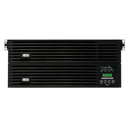 Tripp Lite SU6000RT4UHVG 6000VA / 6kVA / 5400 watt on-line, double-conversion UPS system offers complete power protection for critical server, network and telecommunications equipment in a single 4U rack/tower compatible housing.