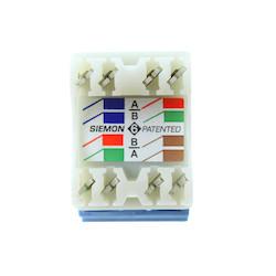 Copper, Outlet, MAX, UTP, Category 6, RJ45, Flat, Blue, Punch down, T568A/B, Bulk Pack