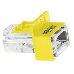 Universal RJ45 Locking Inserts, Yellow, 10 Pack