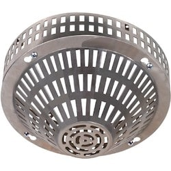 Smoke Detector Cover / Stainless Steel / Surface