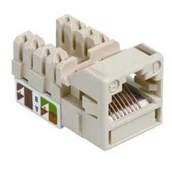 Uniprise UNJ500 Category 5e U/UTP Information Outlet, misty cream