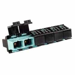 Lazrspeed SC Multiport Shuttered Adapter, Aqua, 10 Bulk Pack