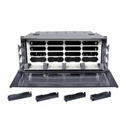 Plateau, panneau de fibres, fixée, Cassette, 4U, accepte 16 Cassettes modulaires