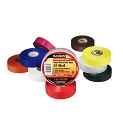 Scotch Vinyl Electrical Color Coding Tape, 1/2 in x 20 ft (13 mm x 6.1 m), Gray