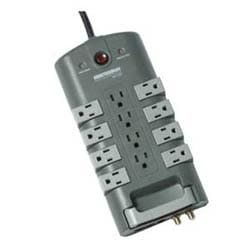 12-Outlet/8-Rotating Outlet Surge Suppressor with coax and phone line protection