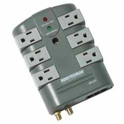 6-Rotating Outlet Surge Suppressor with coax and phone line protection