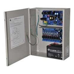 Access Power Controller w/ Power Supply/Charger, 8 PTC Class 2 Relay Outputs, 12VDC @ 10A, FAI, 115VAC, BC400 Enclosure