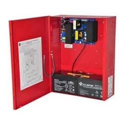Power Supply Charger, Single Fused Output, 24VDC @ 10A, 115VAC, Red BC400 Enclosure