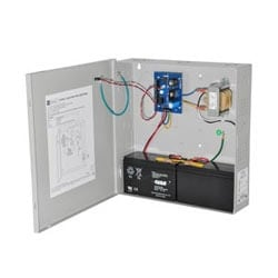 Access Control Power Supply Charger, 2 PTC Class 2 Outputs, 12/24VDC @ 1A, 115VAC, BC300 Enclosure