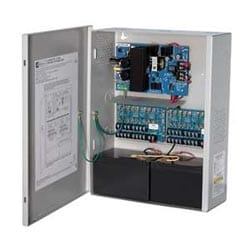 Power Supply Charger, 16 Fused Outputs, 12/24VDC @ 2.5A, 115VAC, BC400 Enclosure