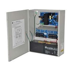 Power Supply Charger, 16 Fused Outputs, 12/24VDC @ 4A, 115VAC, BC400 Enclosure