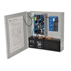 Power Supply Charger, 8 PTC Class 2 Outputs, 12/24VDC @ 6A, 115VAC, BC300 Enclosure