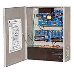 Power Supply Charger, 16 Fused Outputs, 12/24VDC @ 6A, 115VAC, BC400 Enclosure