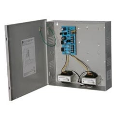 CCTV Power Supply, 4 Outputs, (2 @ 12VDC and 2 @ 24VAC) @ 6A, 115VAC, BC300 Enclosure