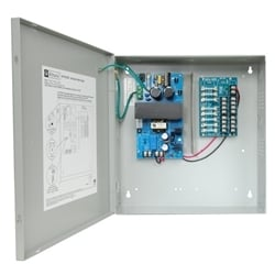 CCTV Power Supply, 8 Fused Outputs, 12/24VDC @ 4A, 115VAC, BC300 Enclosure