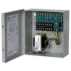 CCTV power supply, 8 fused out, 24 V AC @ 4 a / 28 V AC @ 3.5 a, encl