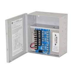 Alimentation CCTV, fondus de 8, 6-15 V DC @ 4 a, encl compact