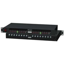 "16 Channel Active UTP Transceiver Hub with Integral Camera Power, Video/Data up to 3000 ft., 10 amp total current, individually selectable 24 V AC or 28 V AC PTC Class 2 power limited Outputs, 1U EIA 19"" Rack Mount Chassis, 115 V AC Input"
