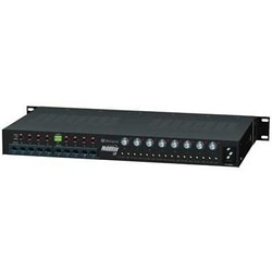 """8 Channel Active UTP Transceiver Hub with Integral Camera Power, Video/Data up to 3000 ft., 5 amp total current, individually selectable 24 V AC or 28 V AC PTC Class 2 power limited Outputs, 1U EIA 19"""" Rack Mount Chassis, 115 V AC Input"""