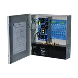 Power Supply Charger, 16 Fused Outputs, 24VDC @ 10A, 115VAC, Supervision, BC300 Enclosure