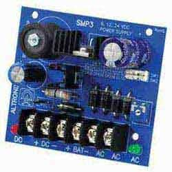 Power Supply Charger, Single Output, 6/12/24VDC @ 2.5A, 24/28VAC, Board