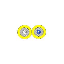 Interconnexion par câble - Riser OS2 Duplex Duplex 2-fibre OFNR serré-tampon jaune