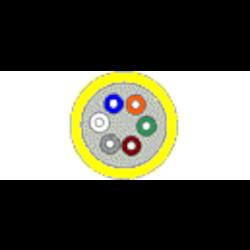 Câble de distribution - Vertical OS2 6- Fibre OFNR Structure serrée-monomode jaune