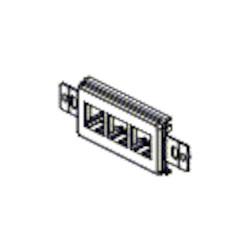 MDVO Deco, Port 3, montage encastré, gris, comprend #6-32 vis adaptateur, utilisation avec insertions MDVO
