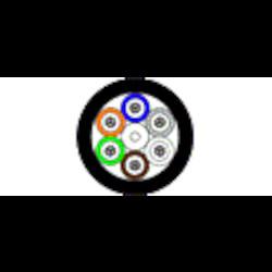 Tube intérieur/extérieur en vrac - Plenum OS2 OFNP 24-fibre en vrac-Tube noir