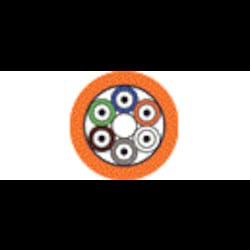 Câble d'extension - Plenum BO2 OM1 6-fibre OFNP serré-tampon Orange