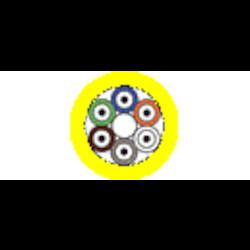Câble d'extension - Riser BO2 OS2 12-fibre OFNR serré-tampon jaune