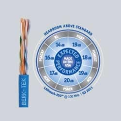 LANmark-350, Category 5e+, Riser UTP Cable, Blue, Reel in a Box