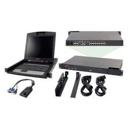 "KVM IP APC 2 x 1 X 16 avec APC 17"" Rack LCD et USB VM Server Module Bundle"