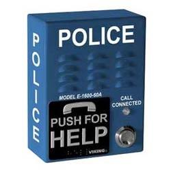 ADA conforme mains libres téléphone d'urgence avec composeur de numéro 5 et voix annonceur, bleu avec Police Verbiage (4 x 5,25 po x 2 dans.)