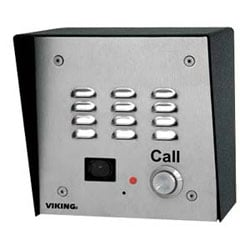 Stainless Steel Handsfree Phone with Dialer and Built-In Color Video Camera (Flush Mount)
