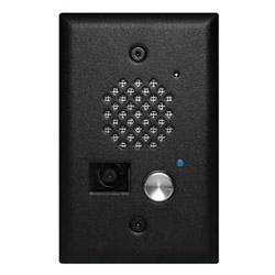 Satin noir entrée téléphone avec caméra couleur, se monte dans le boîtier encastré (montage encastré)