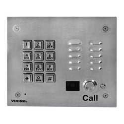 Stainless Steel, Vandal and Weather-resistant Handsfree Phone with Keypad and Color Camera