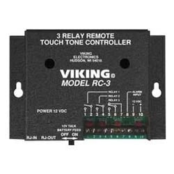 Remote Touch Tone Controller with 3 Normally Open or Normally Closed Relay Contacts