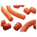 "Riser Innerduct, 1"", Orange, Corrugated With Pull Tape"