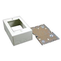 Steel device box Ivory