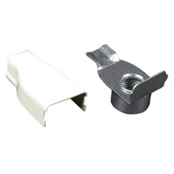 Steel elbow conduit connector Ivory