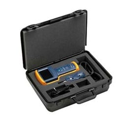 Fiber Optic Cleaning Kit - Includes cleaning cube with wipes, ten cards with sealed cleaning zones, solvent pen, 2.5mm port cleaning swabs and 1.25mm port cleaning swabs in a rugged carrying case.